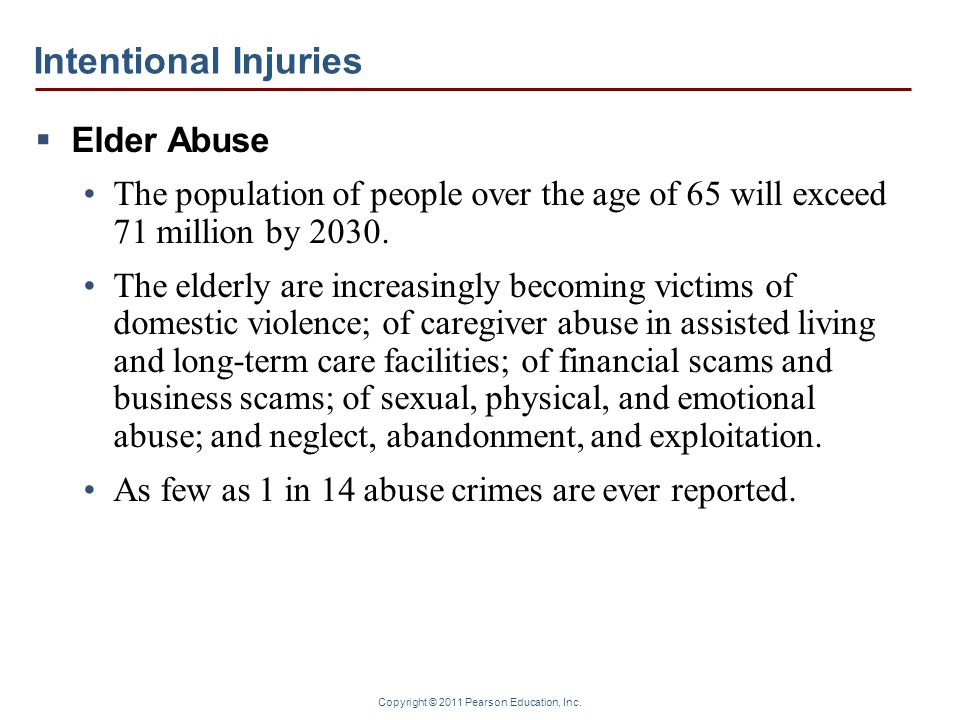 Intentional Injuries Elder Abuse