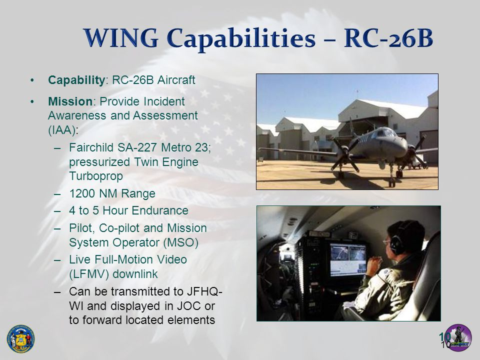 WING Capabilities – RC-26B