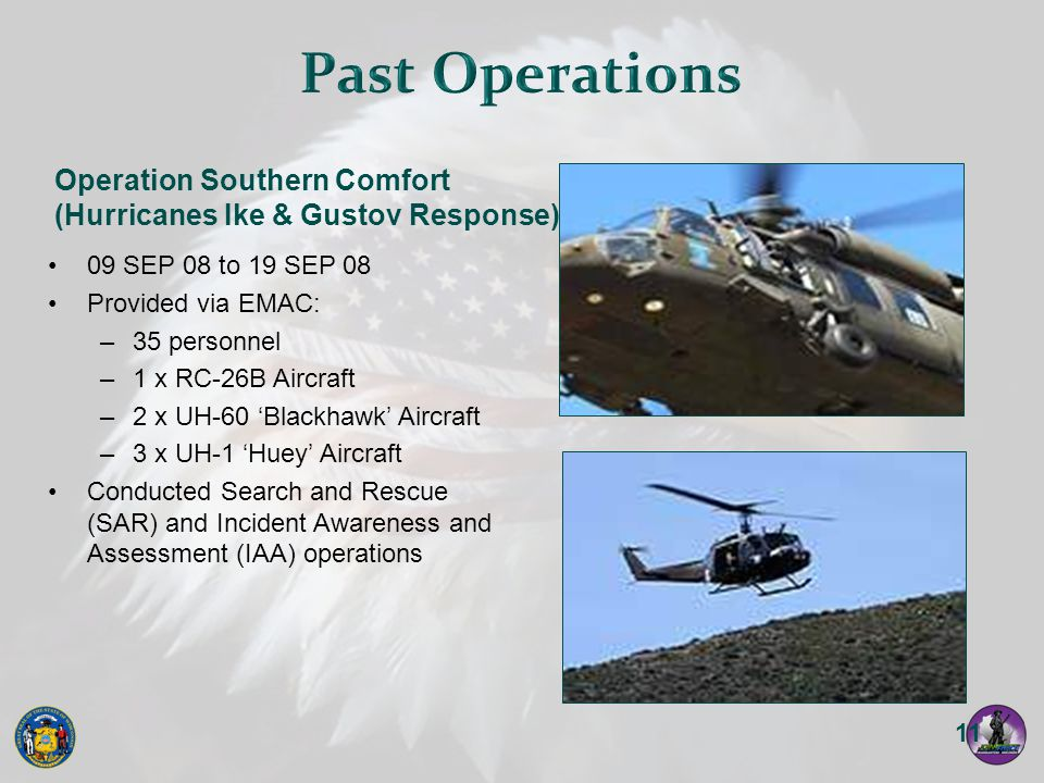 Past Operations Operation Southern Comfort