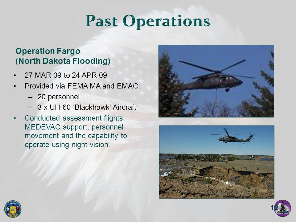 Past Operations Operation Fargo (North Dakota Flooding)