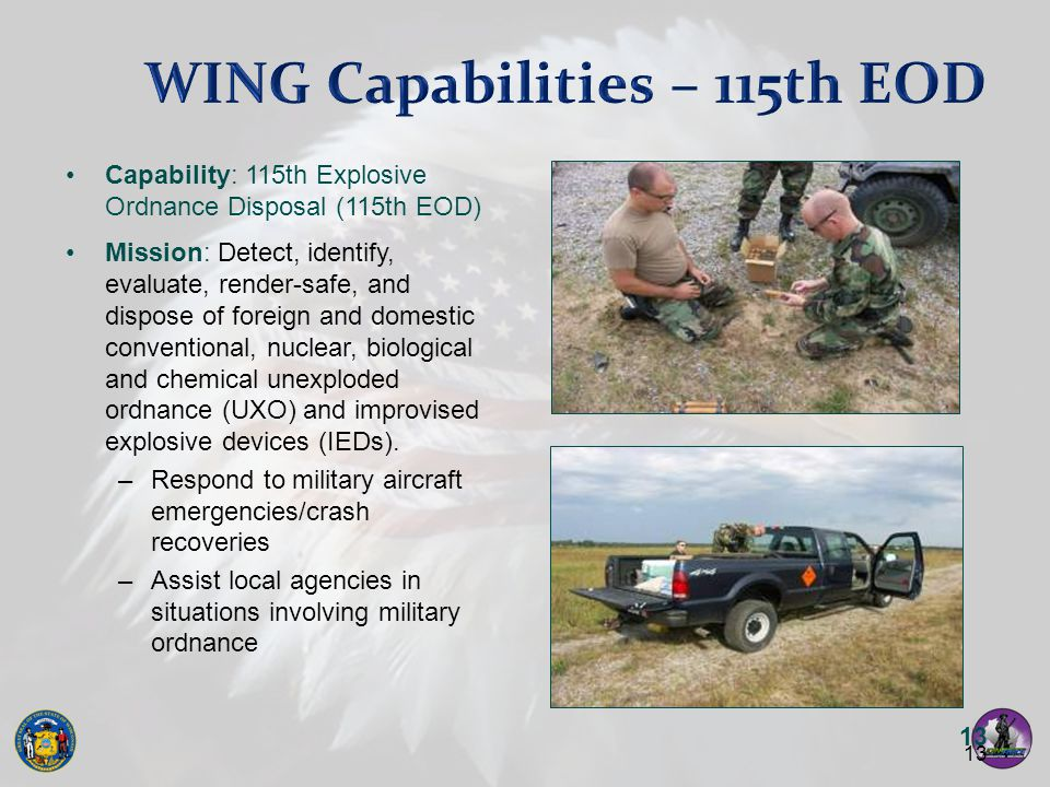 WING Capabilities – 115th EOD