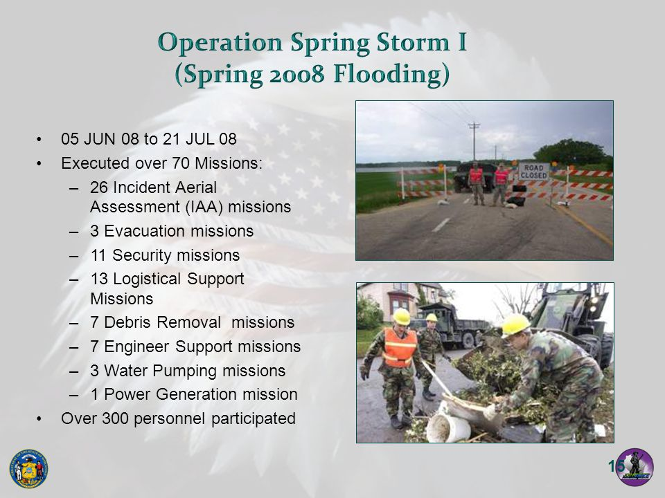 Operation Spring Storm I (Spring 2008 Flooding)