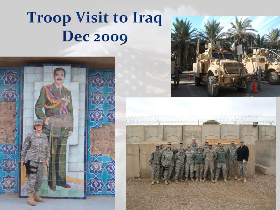 Troop Visit to Iraq Dec 2009 Pictures