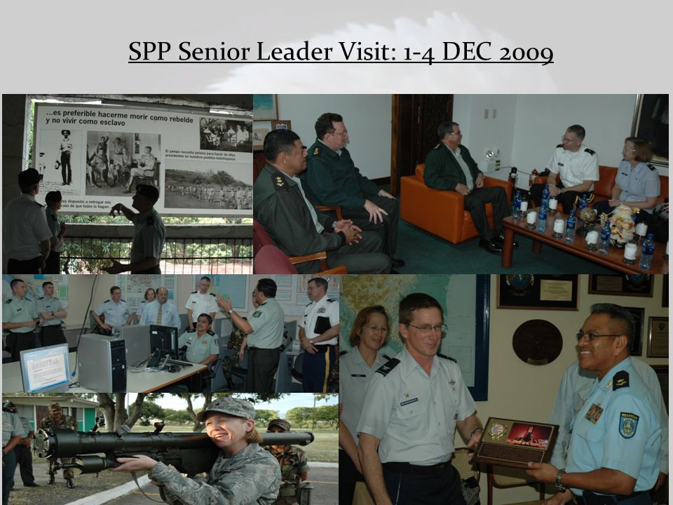 SPP Senior Leader Visit: 1-4 DEC 2009