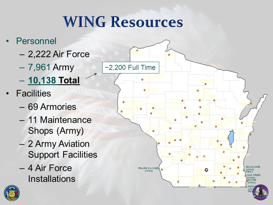 WING Resources Personnel 2,222 Air Force 7,961 Army 10,138 Total