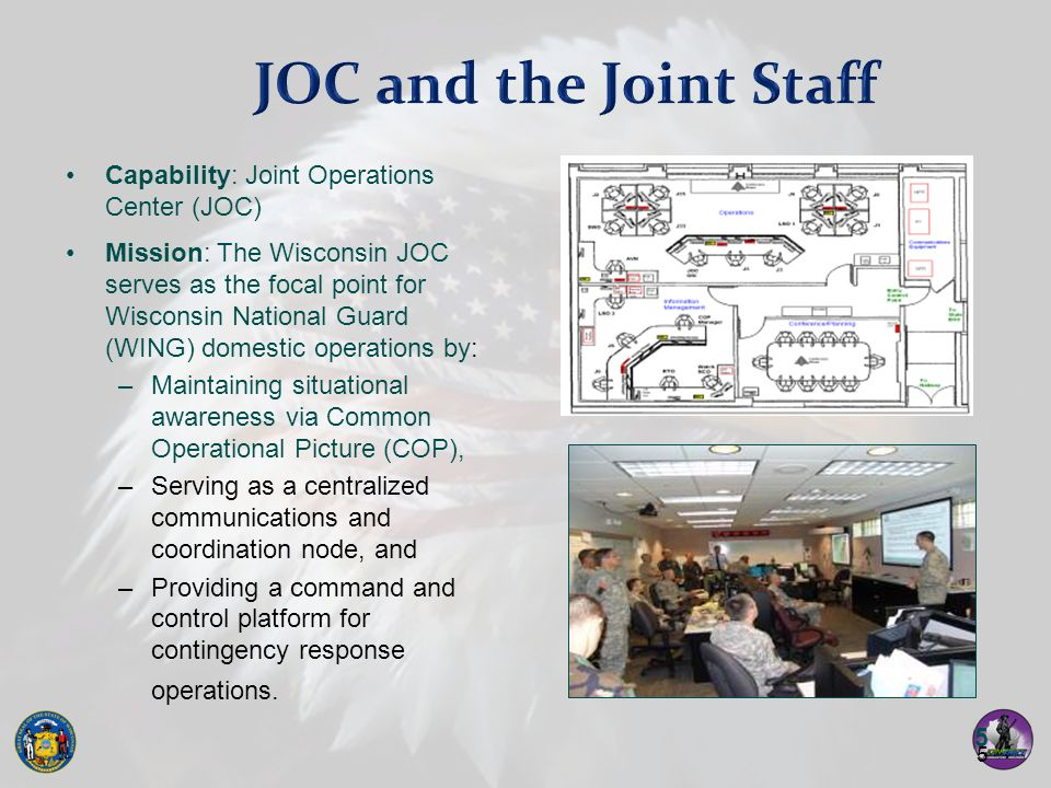 JOC and the Joint Staff Capability: Joint Operations Center (JOC)