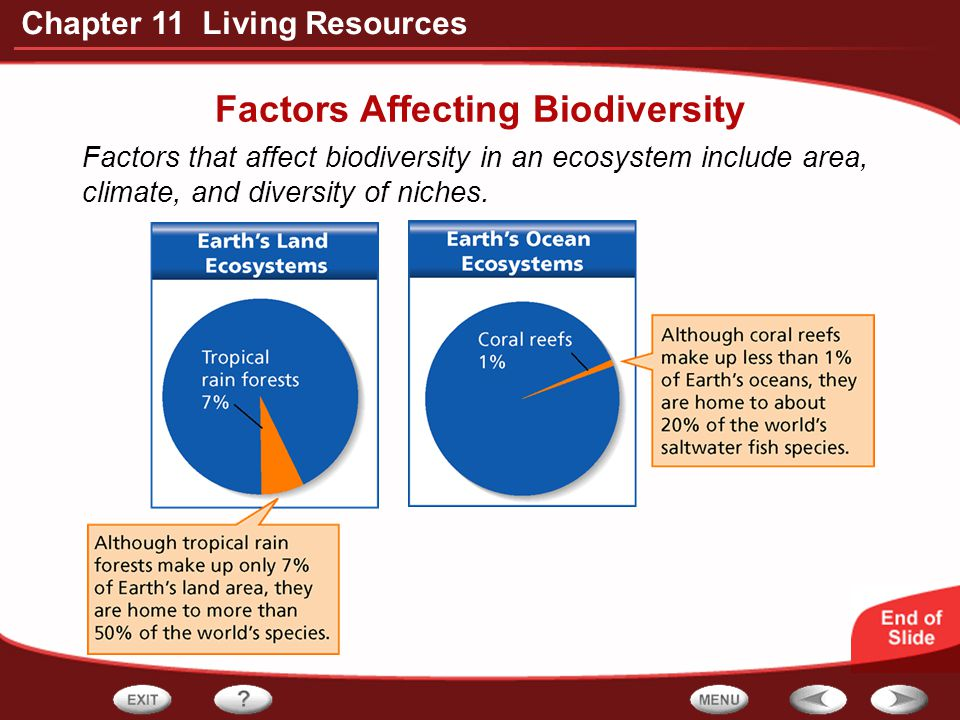 Factors Affecting Biodiversity
