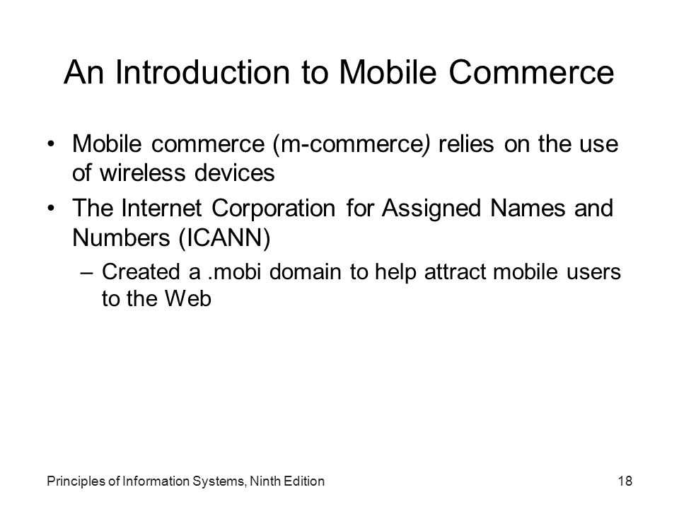 An Introduction to Mobile Commerce