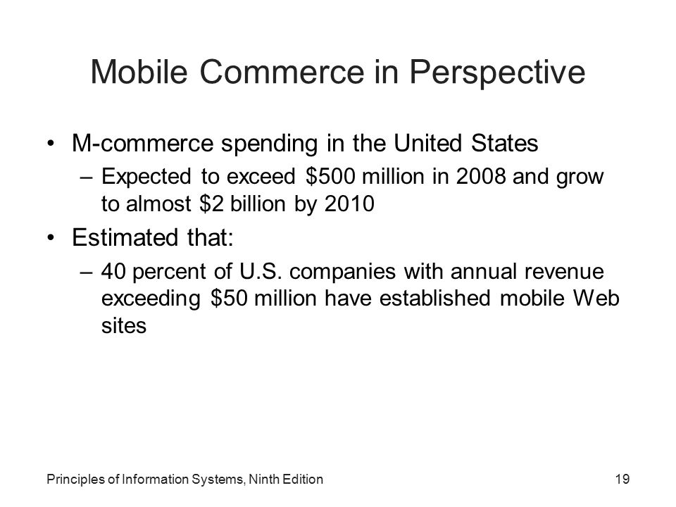 Mobile Commerce in Perspective