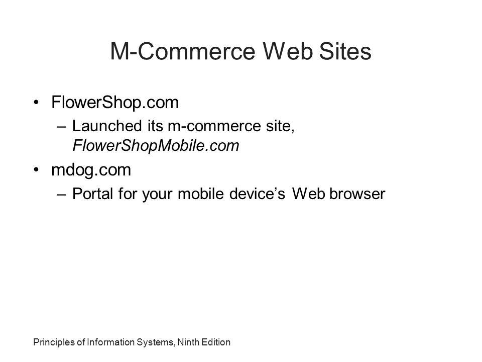 M-Commerce Web Sites FlowerShop.com mdog.com