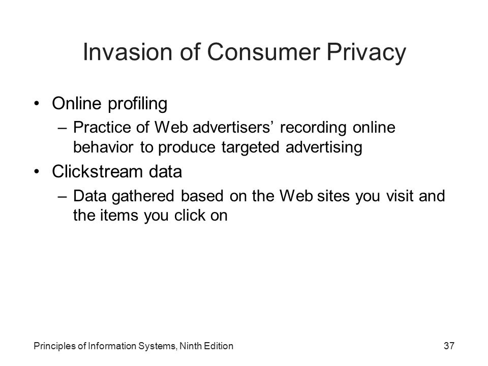 Invasion of Consumer Privacy