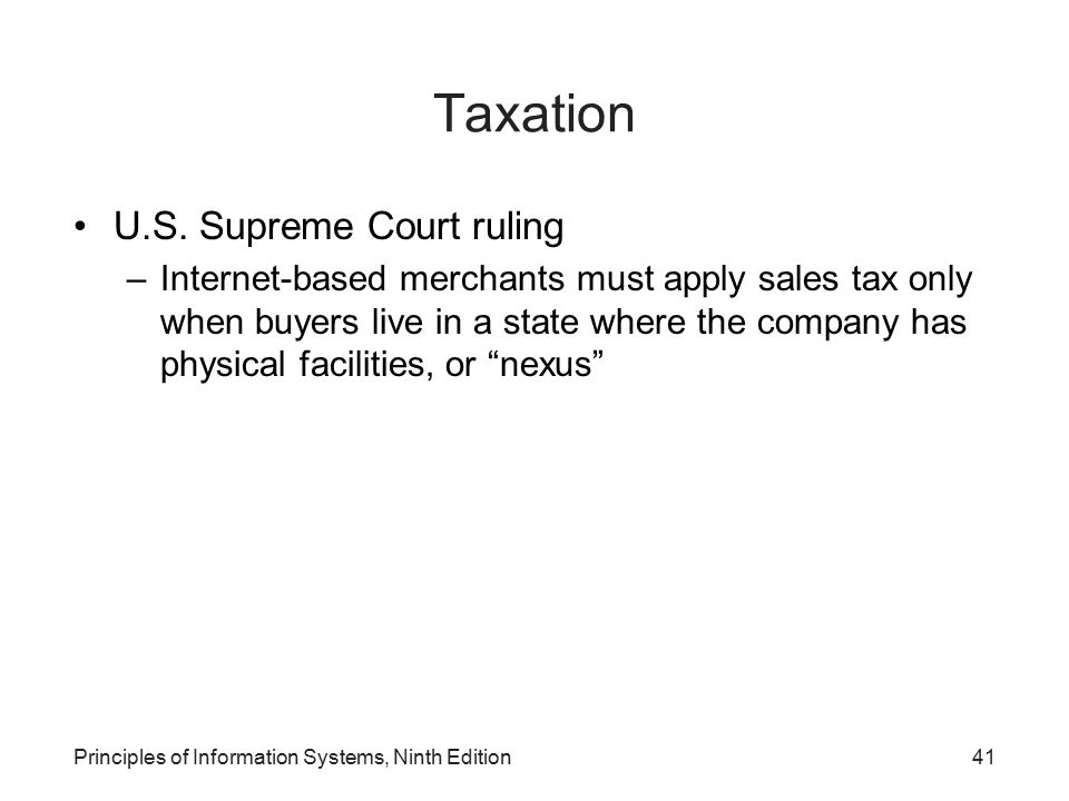 Taxation U.S. Supreme Court ruling