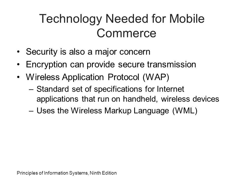 Technology Needed for Mobile Commerce