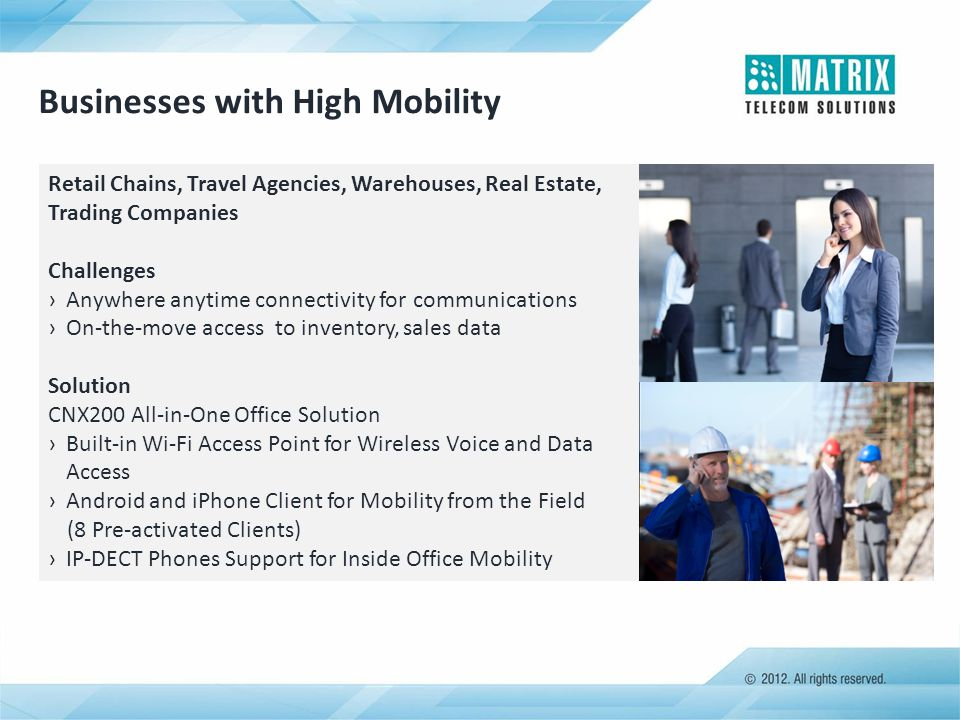 Businesses with High Mobility