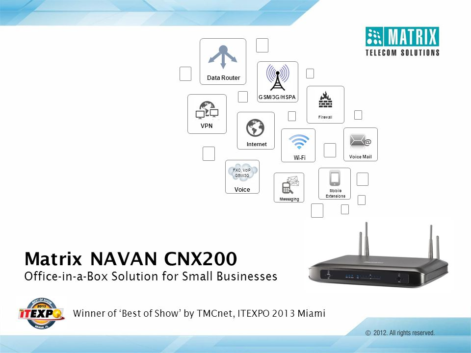 Matrix NAVAN CNX200 Office-in-a-Box Solution for Small Businesses @