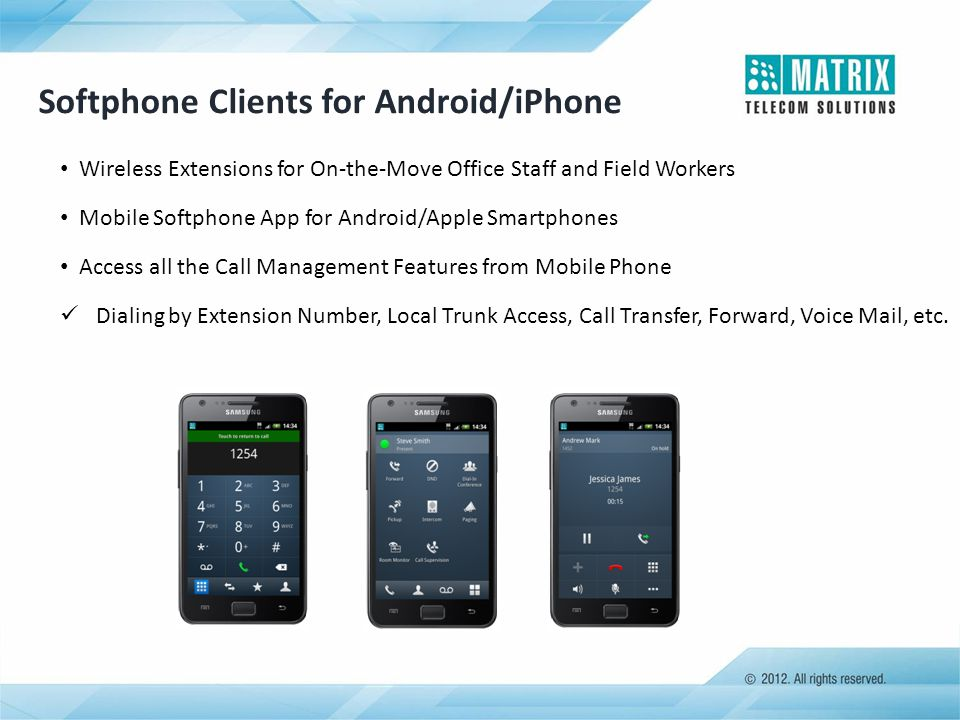 Softphone Clients for Android/iPhone