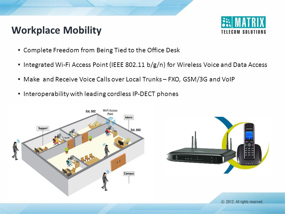 Workplace Mobility Complete Freedom from Being Tied to the Office Desk