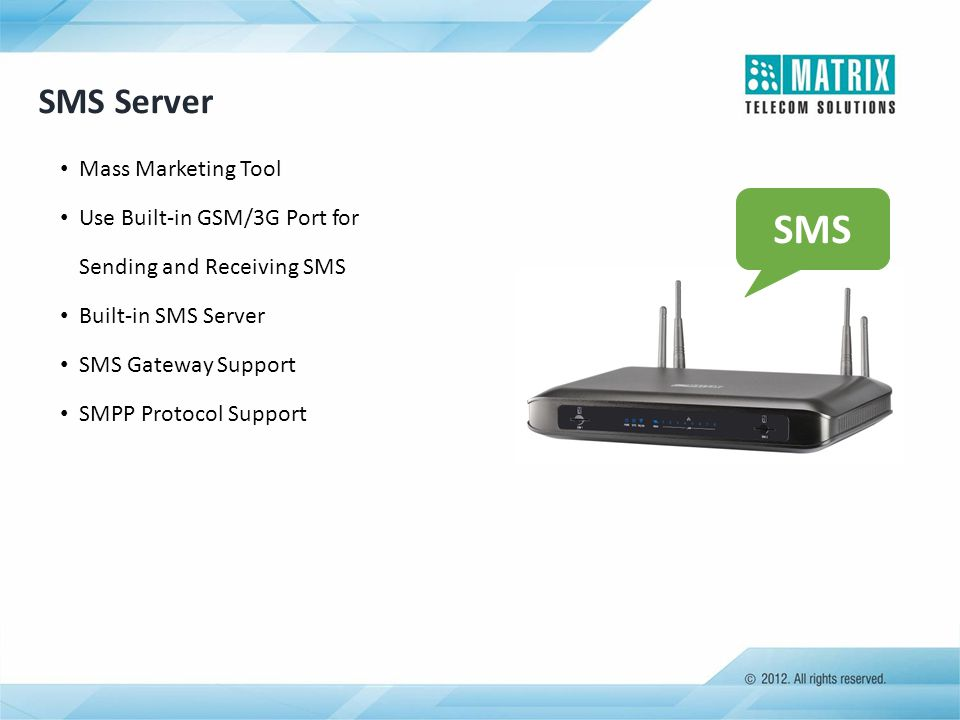 SMS SMS Server Mass Marketing Tool Use Built-in GSM/3G Port for
