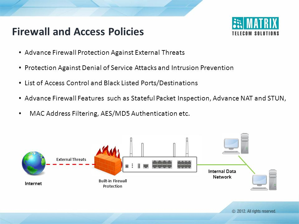 Built-in Firewall Protection
