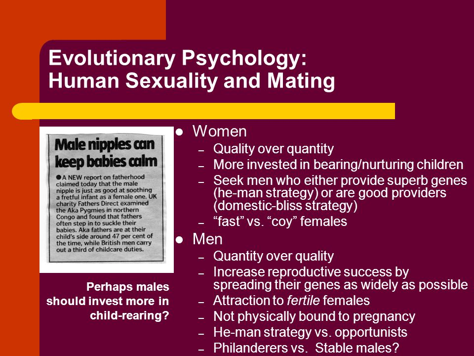 Evolutionary Psychology: Human Sexuality and Mating