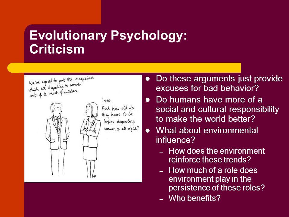 Evolutionary Psychology: Criticism