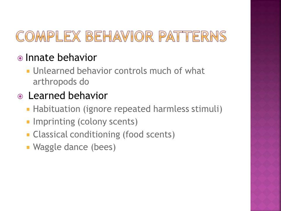 Complex behavior patterns