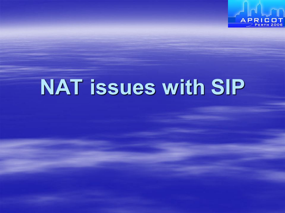 NAT issues with SIP