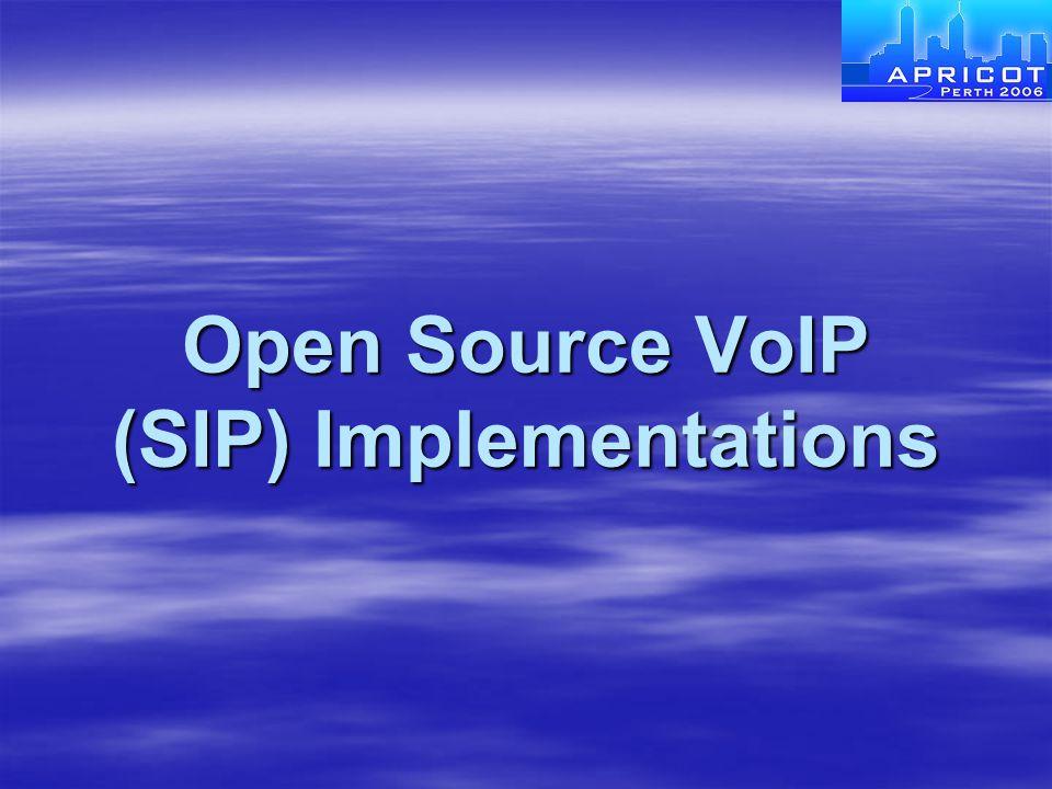 Open Source VoIP (SIP) Implementations