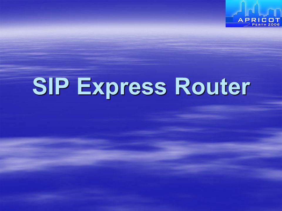 SIP Express Router