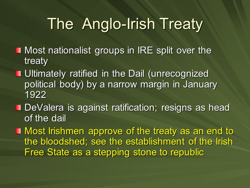 The Anglo-Irish Treaty