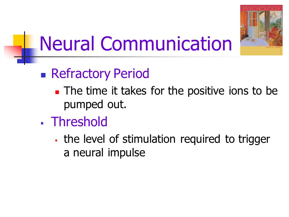 Neural Communication Refractory Period Threshold