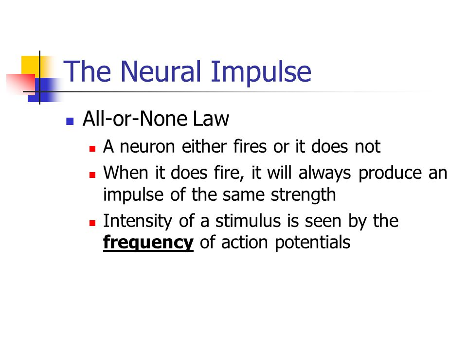 The Neural Impulse All-or-None Law