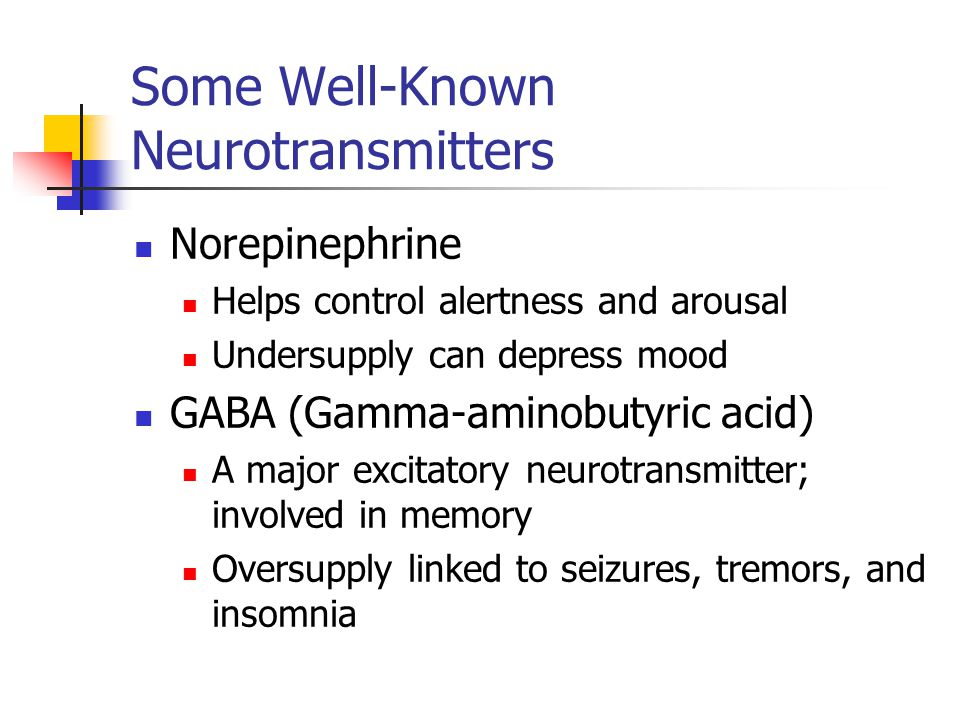 Some Well-Known Neurotransmitters