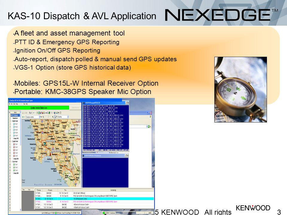 KAS-10 Dispatch & AVL Application