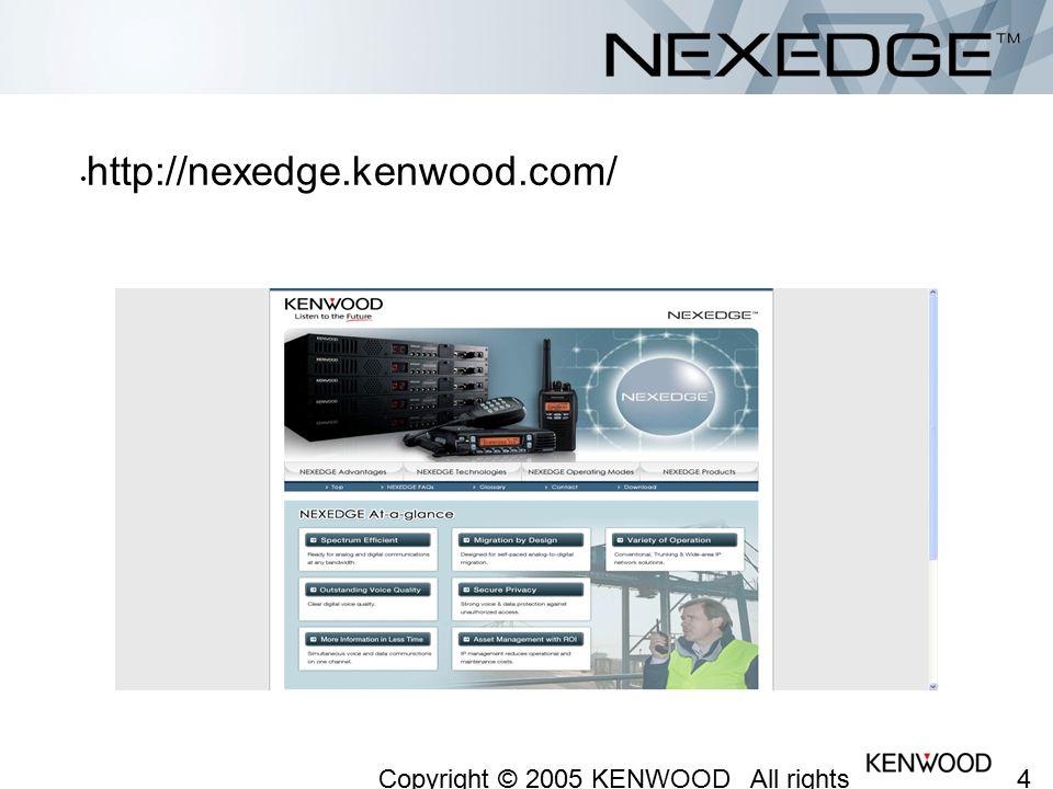 http://nexedge.kenwood.com/ Copyright © 2005 KENWOOD All rights reserved.