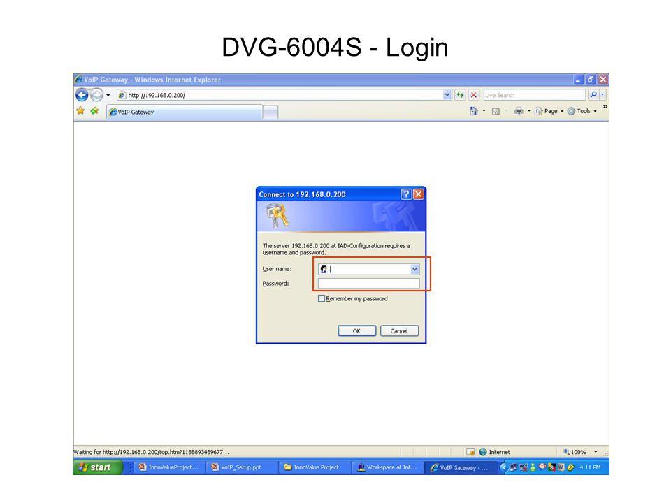 DVG-6004S - Login