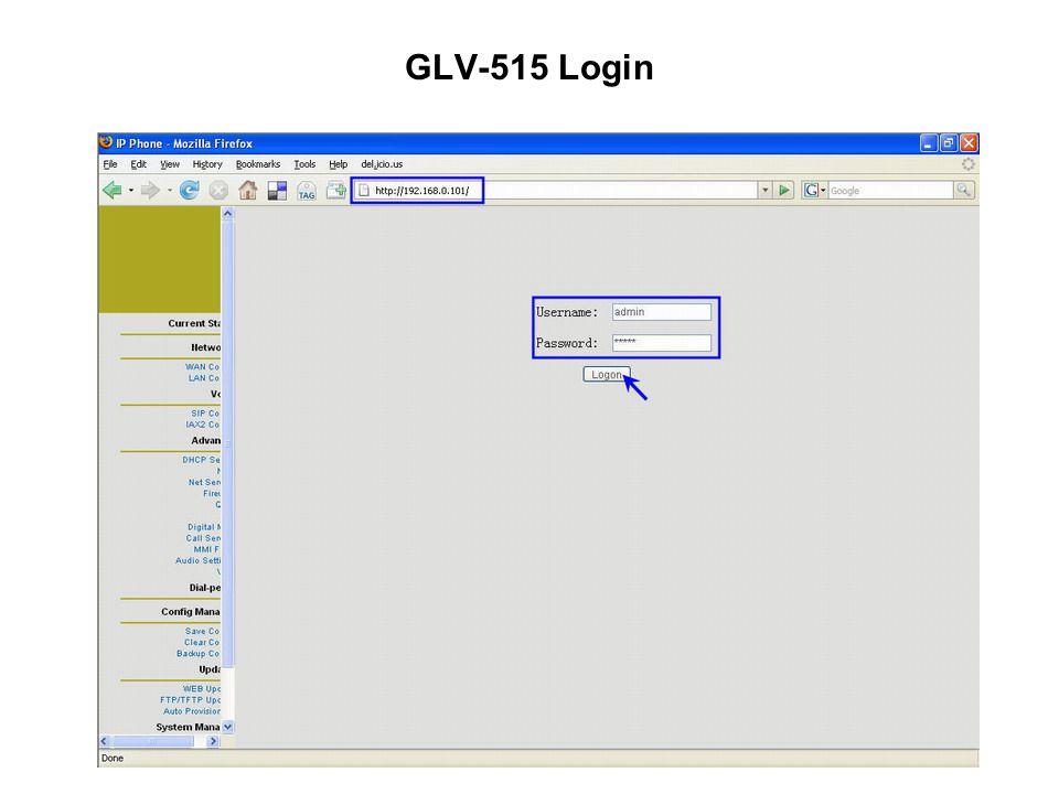 GLV-515 Login