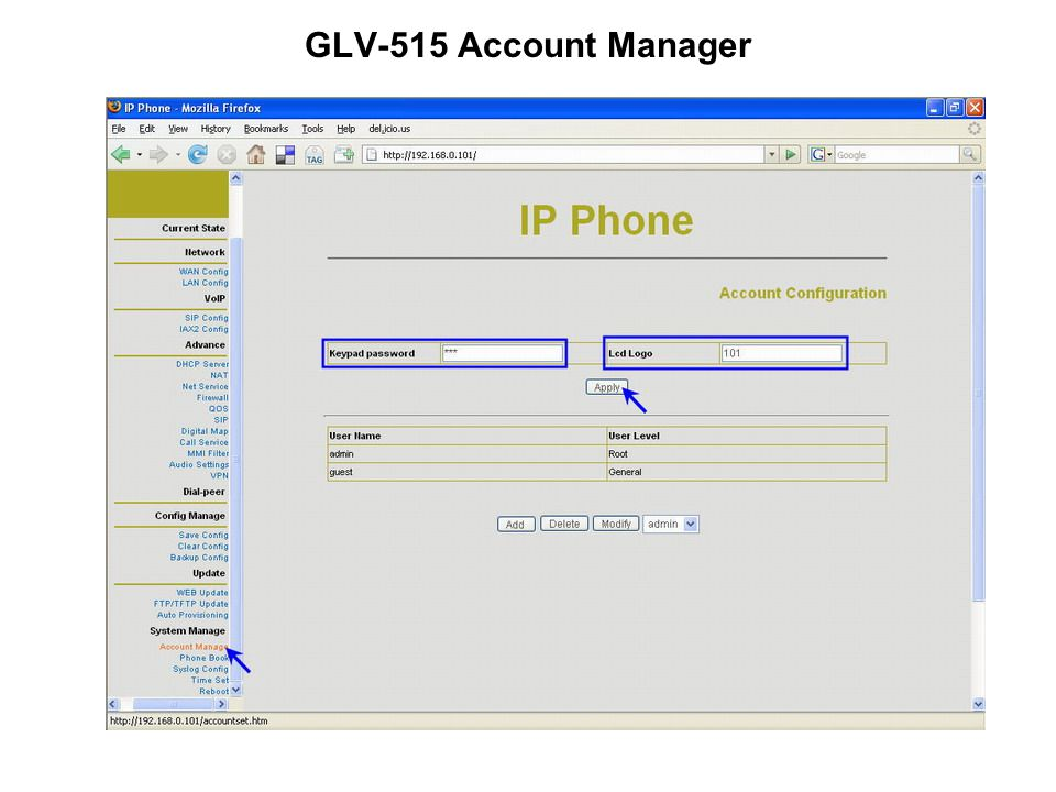 GLV-515 Account Manager