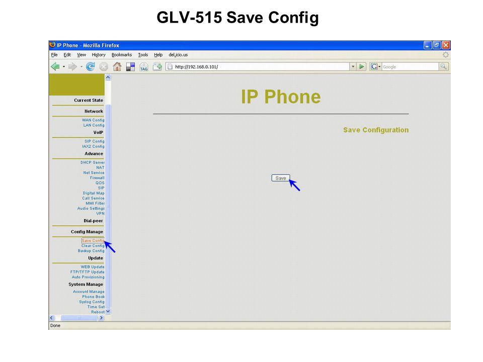 GLV-515 Save Config