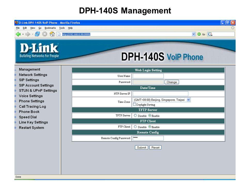 DPH-140S Management