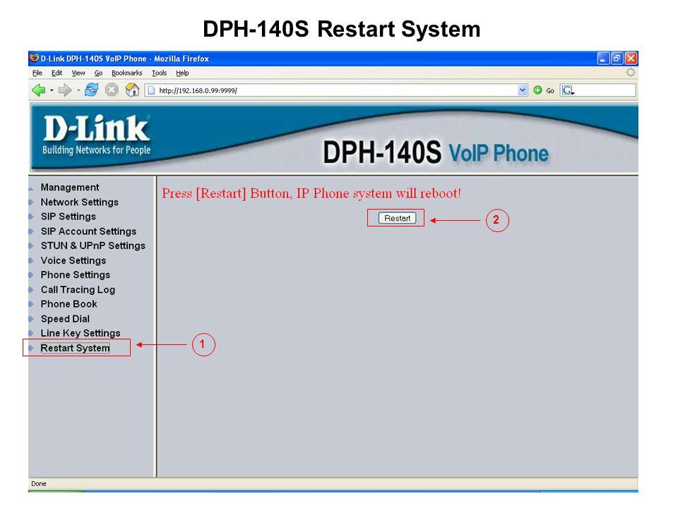 DPH-140S Restart System 2 1