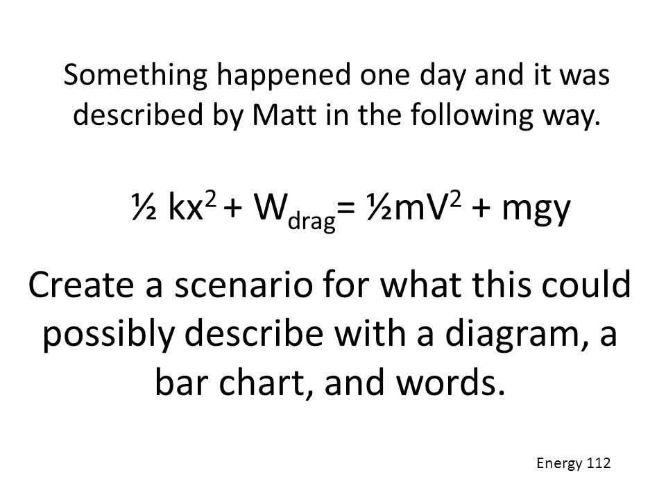 Something happened one day and it was described by Matt in the following way.