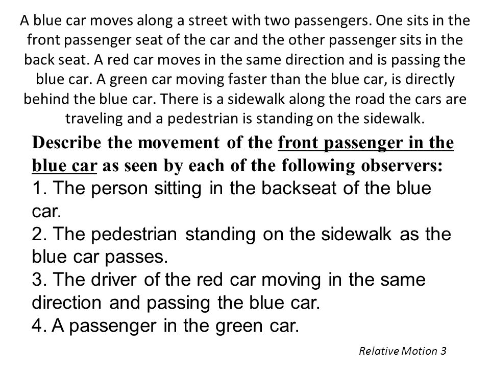 2. The pedestrian standing on the sidewalk as the blue car passes.