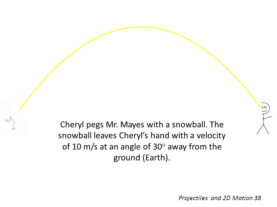 Cheryl pegs Mr. Mayes with a snowball