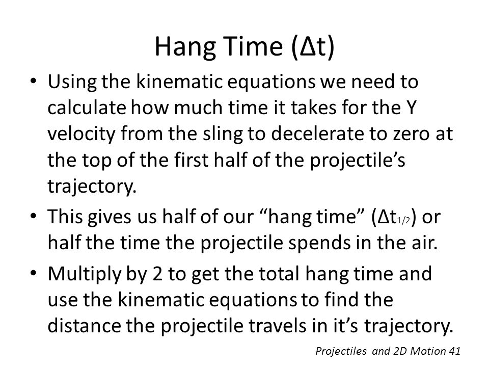 Hang Time (Δt)