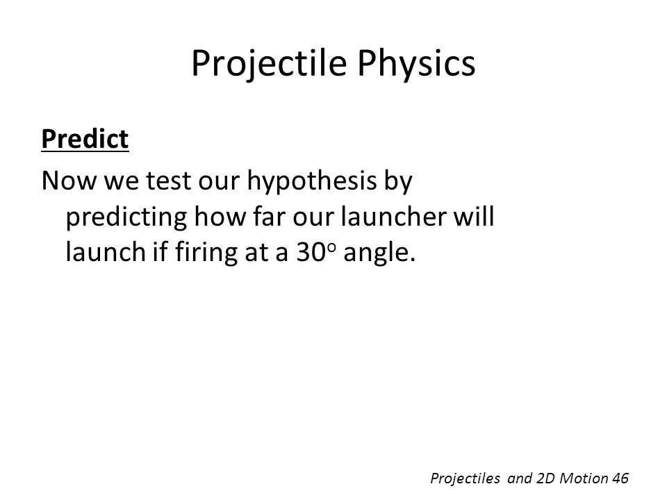 Projectile Physics Predict