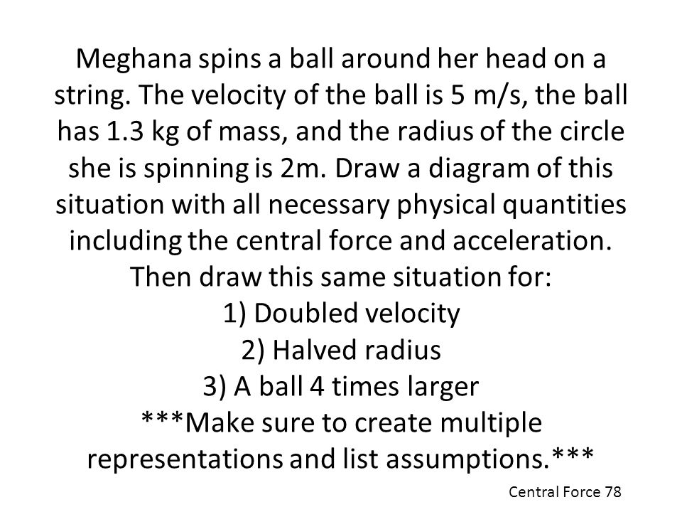 Meghana spins a ball around her head on a string