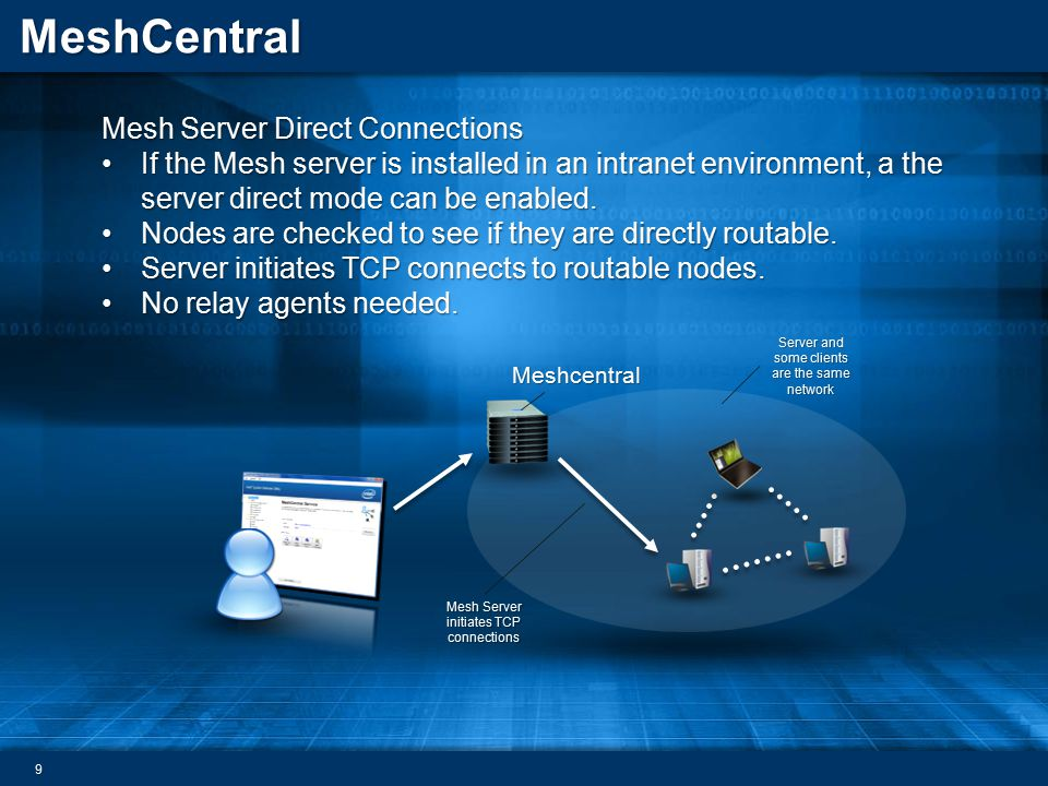 Mesh Server Direct Connections