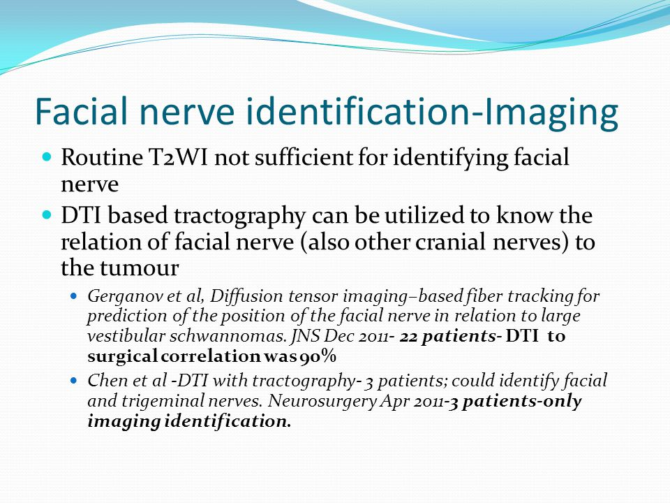 Facial nerve identification-Imaging