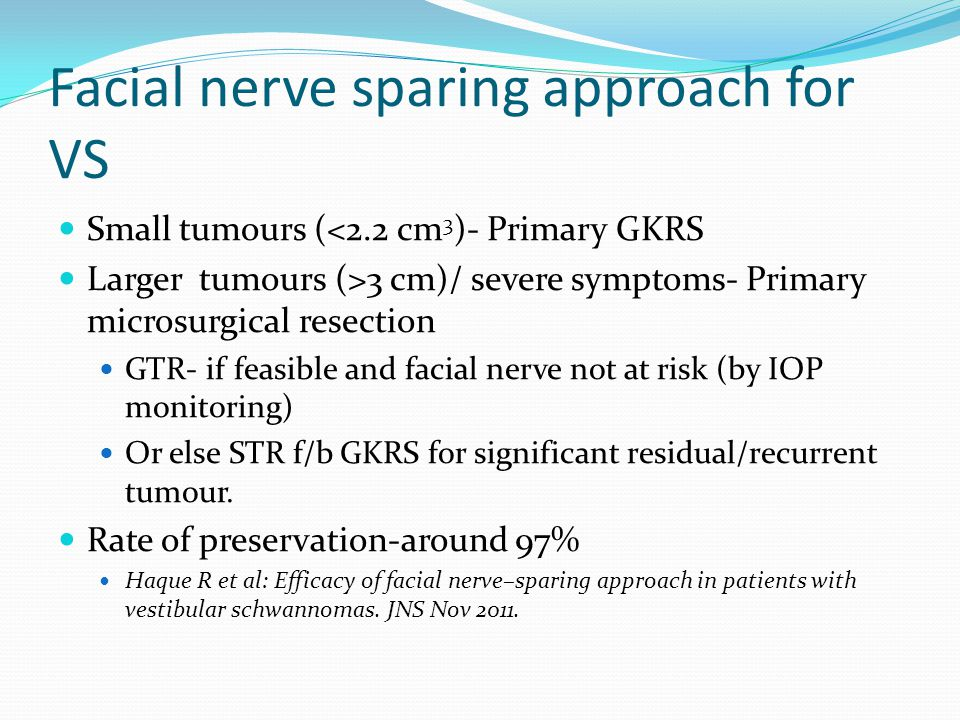 Facial nerve sparing approach for VS